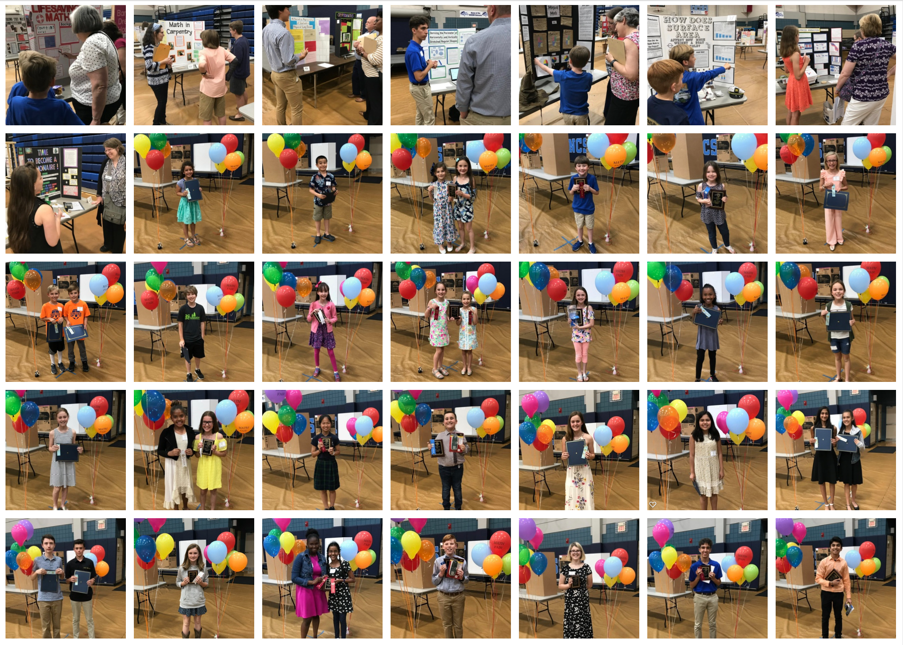 images from the 2019 state math fair